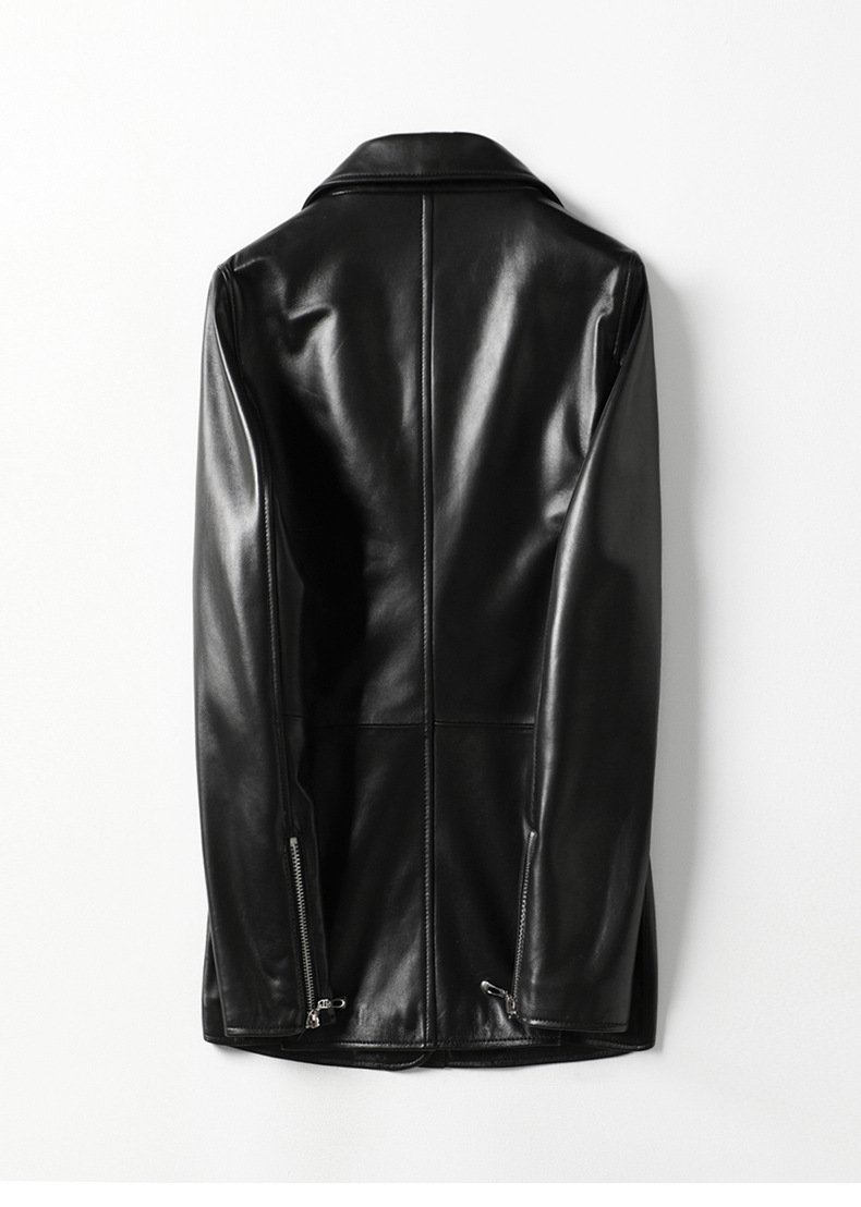 Women's leather jacket, fashion sheep skin small suit jacket.HQ20-CLR8205A model 04