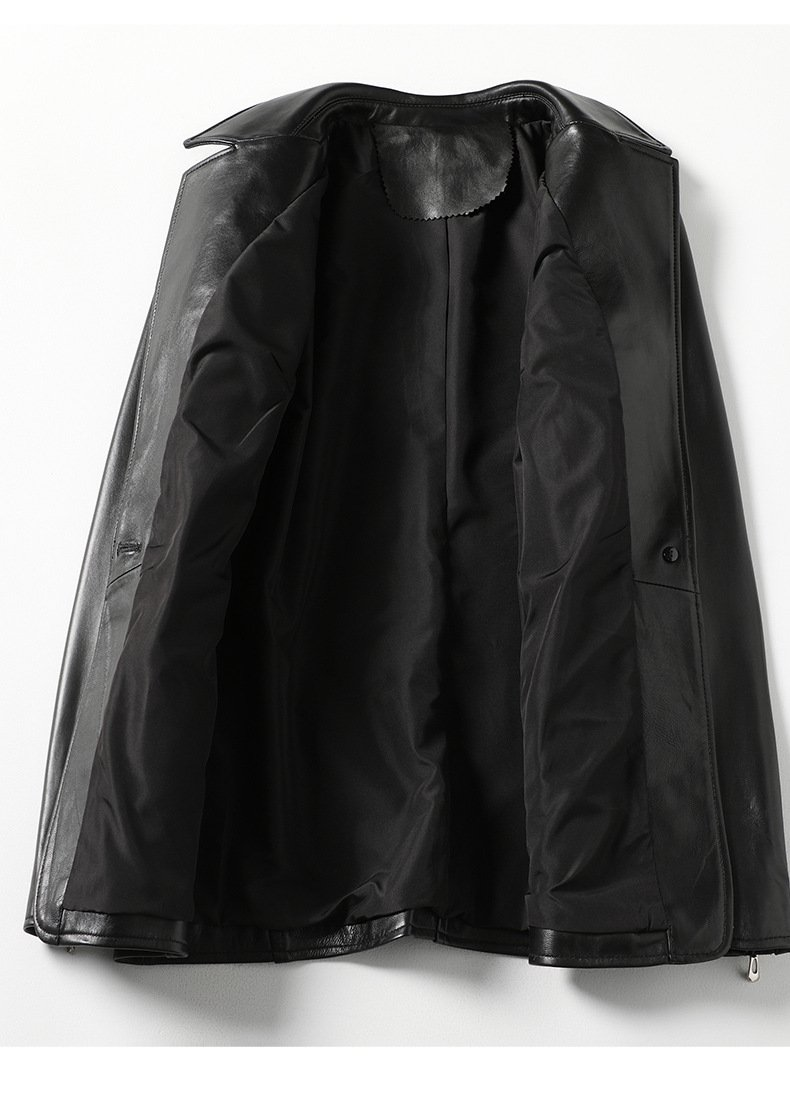 Women's leather jacket, fashion sheep skin small suit jacket.HQ20-CLR8205A model 05