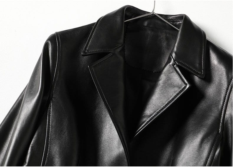 Women's leather jacket, fashion sheep skin small suit jacket.HQ20-CLR8205A model 06