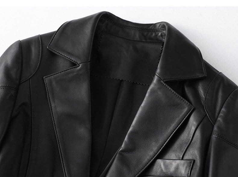 Women's leather jacket, slim casual sheepskin jacket.HQ20-CJX19019A model 04