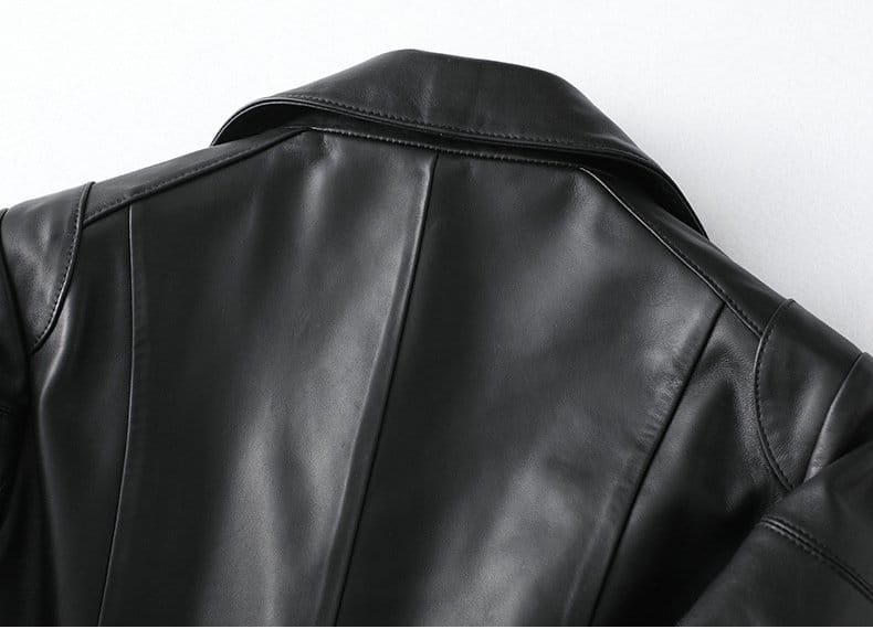 Women's leather jacket, slim casual sheepskin jacket.HQ20-CJX19019A model 06